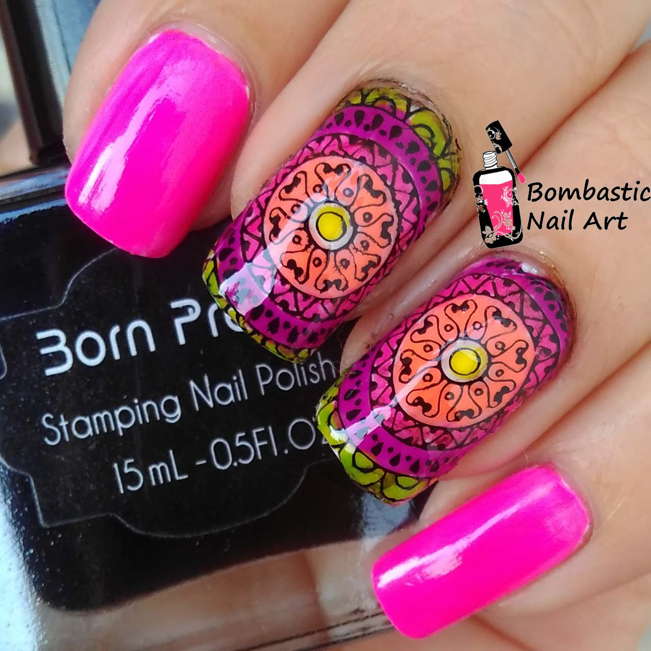 BLACK Born Pretty 15 ml Stamping Nail Polish Art New Sweet Color ...