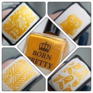 GOLD Born Pretty 15 ml Stamping Nail Polish Art New Sweet Color Nail Varnish