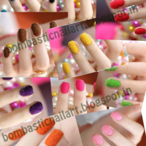 10 COLOR Salon express Plush flocking velvet powder for velvet Nail Art for Fall