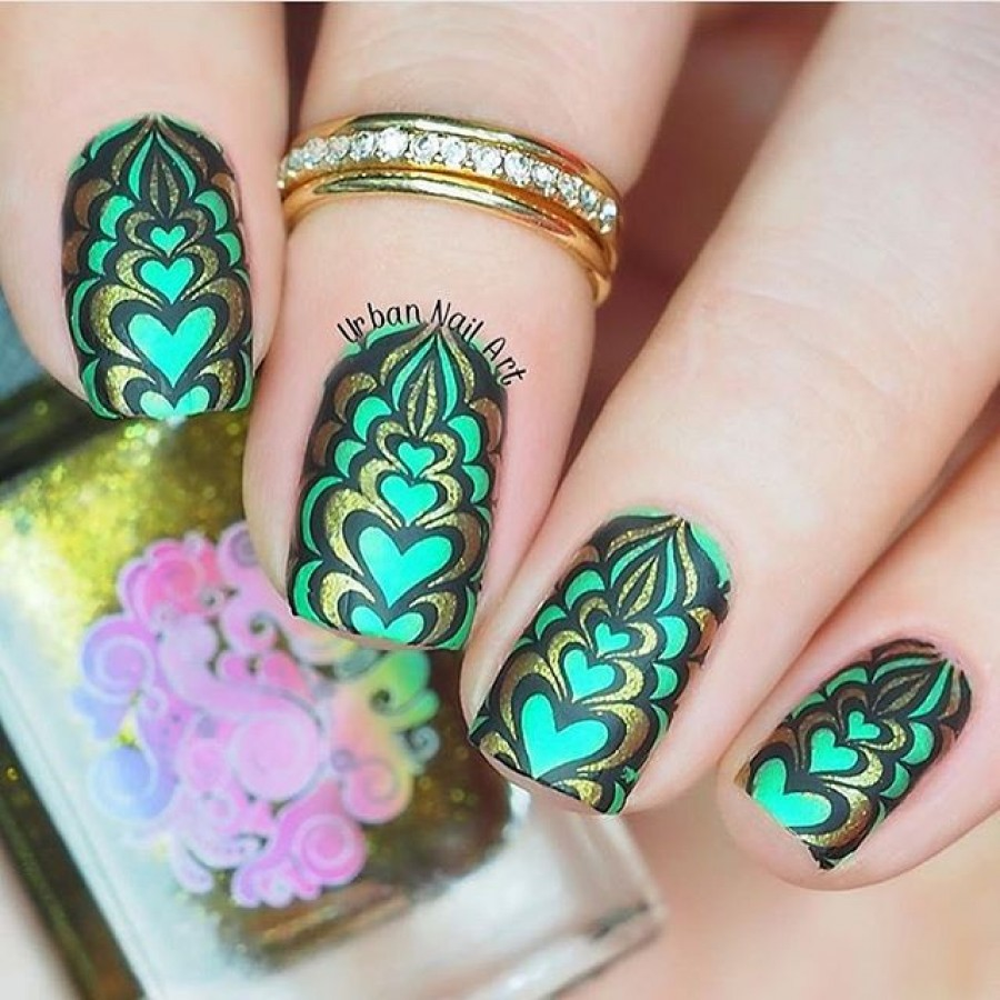 Blogger collaboration nail art water marble stamping plate bm bundle monster water marble stamping nail art 1 prinsesfo Gallery