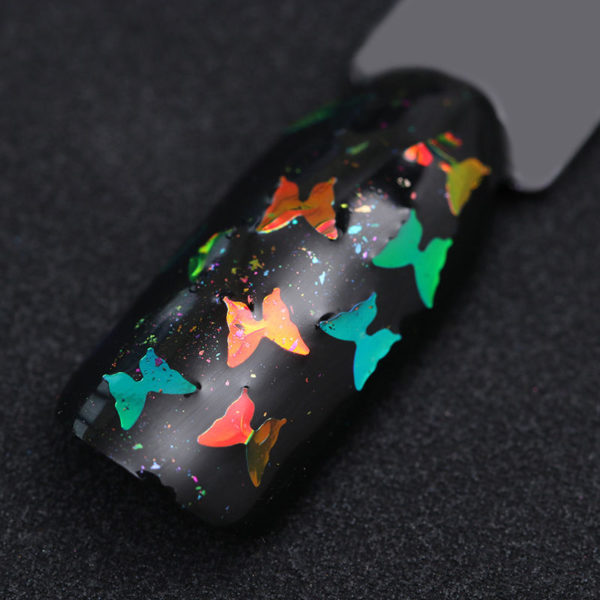 BORN PRETTY Butterfly Nail Flakes Glitter Sequins Sparkle Colorful Palette