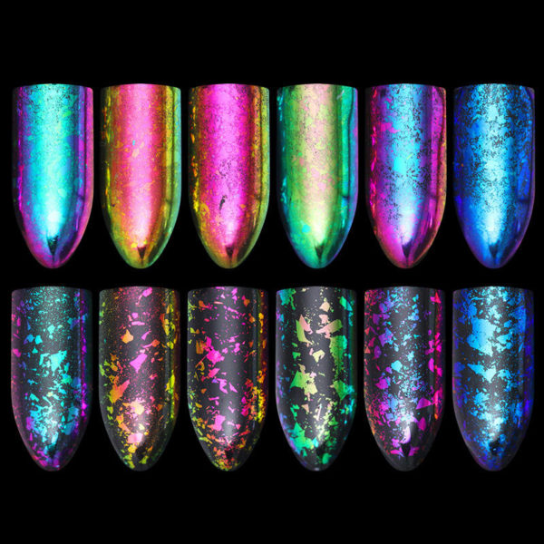 BORN PRETTY Chameleon Nail Sequins Colorful Irregular Glitter Powder Flakies