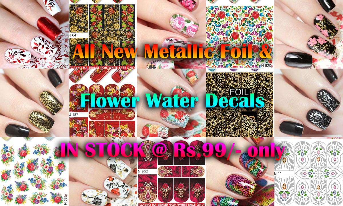Russian Flower Water Decal Collage