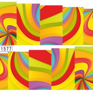 Water Marble Cheat Rainbow Nail Art Water Transfer Slide Decal Sticker 1577