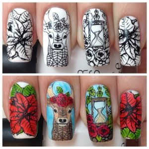 10pc-nature-themed-nail-stamp-plates---mystic-woods-set-1 BM-S171