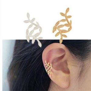1 Pc Cuff Leaf Leaves Fashion Gold Earrings Jewelry