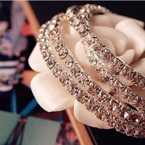 1PC Fashion Retro Vintage Noble Exquisite Rhinestone Shining Elastic Bracelet