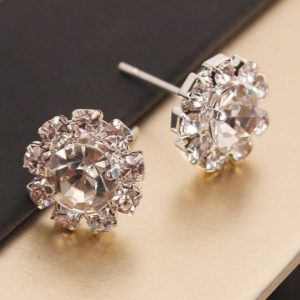 New Women's Fashion Sparkling Rhinestone Ball Earrings Stud Earring