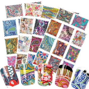 10 PACK FULL PAISLEY FLOWER NAIL Transfer Decals stickers Art