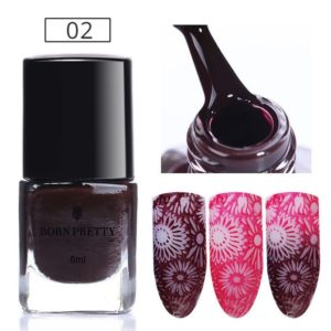 6ml BORN PRETTY Thermal Stamping Polish Color Changing Nail Art Plate Printing Nail Lacquer Varnish