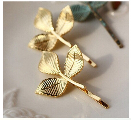1 Pc Fashion Three-dimensional 3 Leaf Leaves Vintage Retro Hairpins Hair Clip