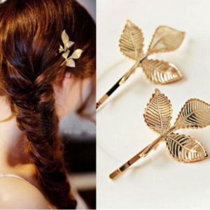 1 Pc Fashion Three-dimensional 3 Leaf Leaves Vintage Retro Hairpins Hair Clip`