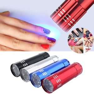 Mini LED UV Gel Lamp Light Nail Dryer Flashlight Torch For Nail Polish Manicure 3