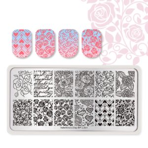 Born Pretty Valentine's day stamping plates BP-L001
