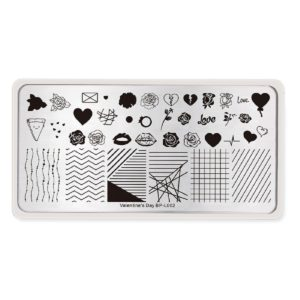 Born Pretty Valentine's day stamping plates BP-L002 2
