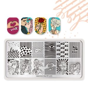 Born Pretty Valentine's day stamping plates BP-L005