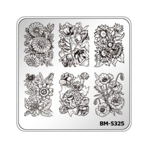 Bundle monster botanicals stamping plate nail art