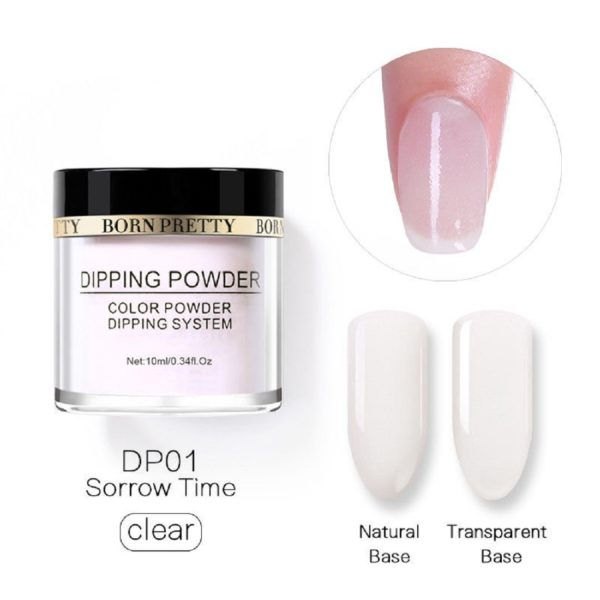 Born-Pretty-Dipping-System-Color-Powder-Clear-Transparent-Sorrow-Time-DP01