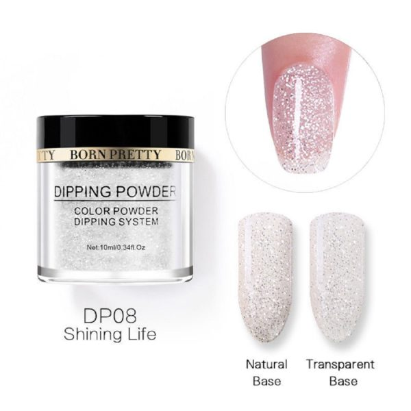 Born-Pretty-Dipping-System-Color-Powder-Glitter-Shining-Life-DP08