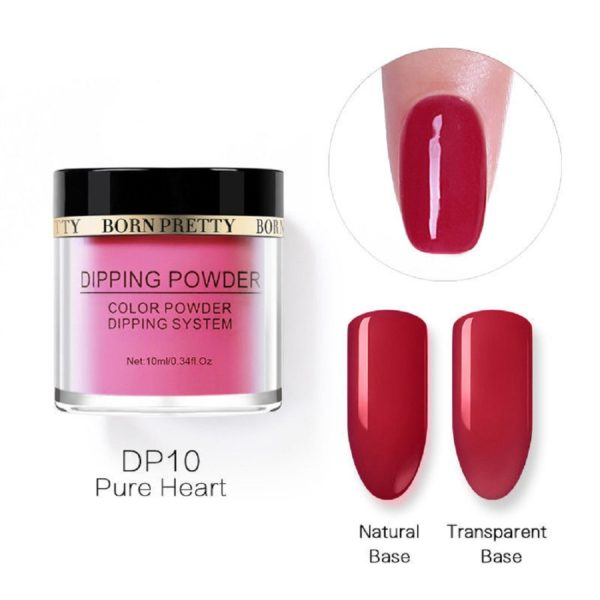 Born-Pretty-Dipping-System-Color-Powder-Red-Pure-Heart-DP10
