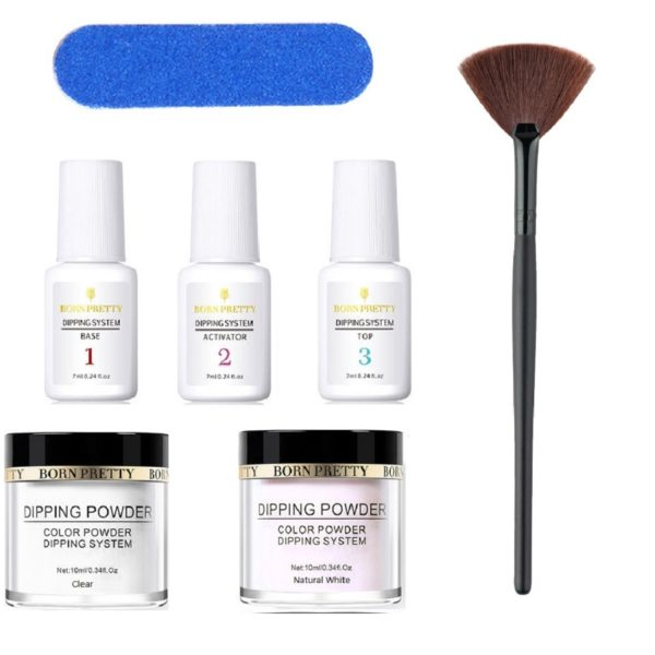 7-pcs-Born-Pretty-Dipping-System-Liquid-Powder-Base-Top-Activator-clear-white-Buffer-Dusting-Brush-02