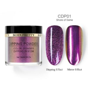 Born-Pretty-Dip-Dipping-System-holographic-holo-chameleon-mirror-effect-glitter-Powder-CDP01-shore-of-seine
