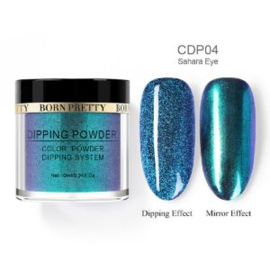 Born-Pretty-Dip-Dipping-System-holographic-holo-chameleon-mirror-effect-glitter-Powder-CDP04-sahara-eye