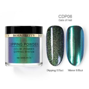 Born-Pretty-Dip-Dipping-System-holographic-holo-chameleon-mirror-effect-glitter-Powder-CDP06-gate-of-hell
