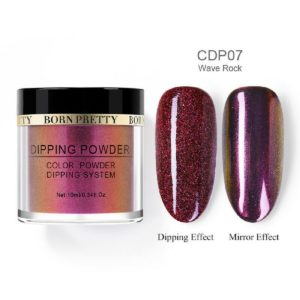 Born-Pretty-Dip-Dipping-System-holographic-holo-chameleon-mirror-effect-glitter-Powder-CDP07-wave-rock